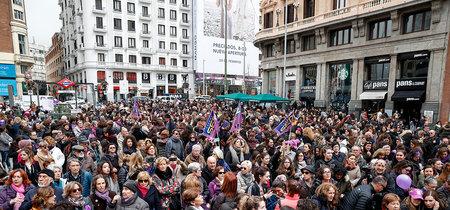 El desbordante seguimiento de la huelga y las protestas feministas del #8M, en imágenes