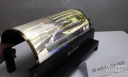 Más sobre las pantallas flexibles de LG-Display