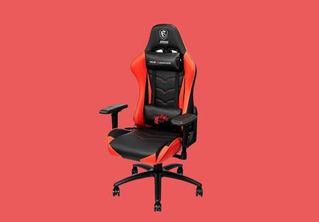Mejora tu ergonomía mientras juegas con esta silla gaming roja y negra de MSI en oferta: puedes hacerte con ella por 199 euros en PcComponentes