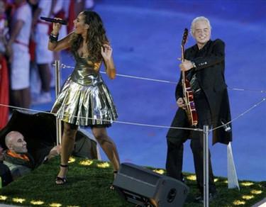 Leona Lewis, David Beckham y Jimmy Page en la gala de los Juegos Olímpicos