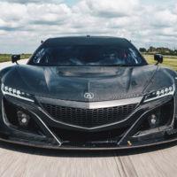 Así de amenazante luce el Honda NSX GT3 en su librea de fibra de carbono