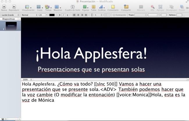 Creando una presentación que se
