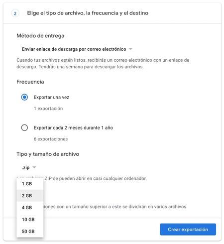 Google Takeout Descarga Fotos