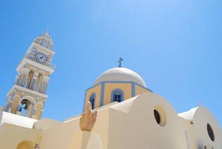 Santorini: Visita a las dos catedrales de Fira