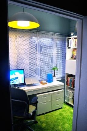 Puertas abiertas: una zona de trabajo relajante y funcional