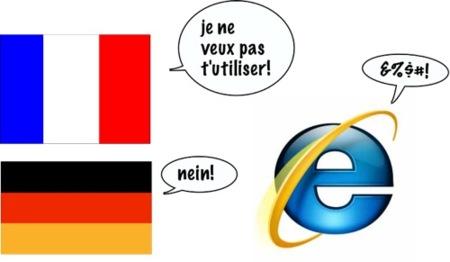 Los gobiernos de Alemania y Francia desaconsejan Internet Explorer
