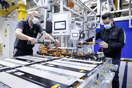 Mercedes Electrico Bateria Fabrica