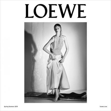 Julia Nobis para campaña Loewe Primavera-Verano 2015 fotografiada por Steven Meisel