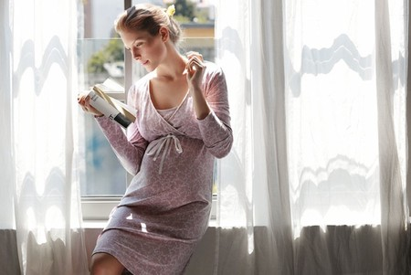 camisón rosa prenatal lookbook 2014