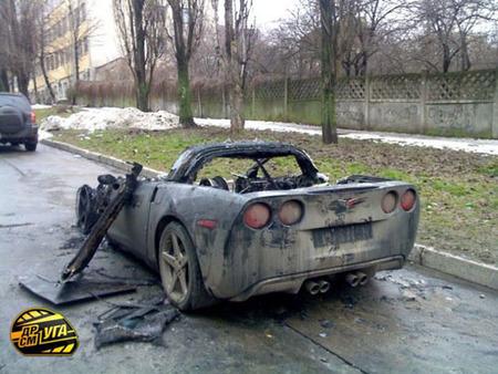 Corvette carbonizado
