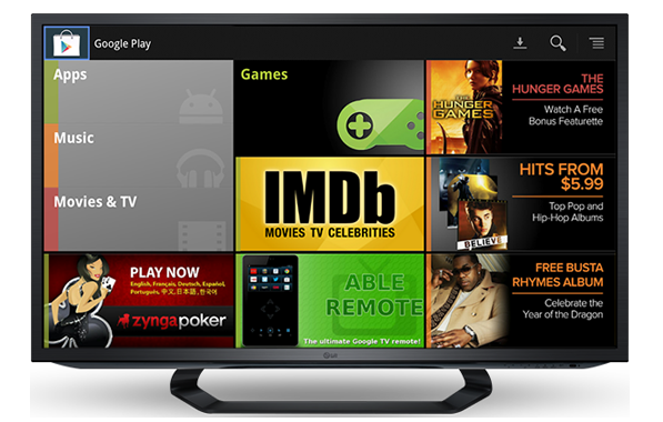 Google Play por fin en Google TV