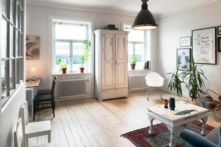 Un fantástico apartamento en Estocolmo con un toque vintage