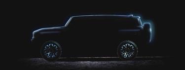 El Hummer eléctrico no solo saldrá como pick-up. Este teaser también lo muestra como un SUV colosal