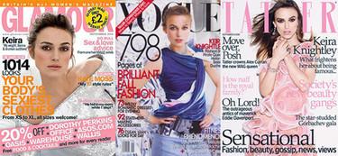 Keira Knightley portada de las revistas de moda de septiembre
