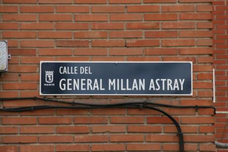 Placa De La Calle General Millan Astray En Madrid 05 7 De Febrero De 2016 Madrid