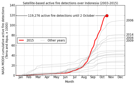 Incendios en Indonesia