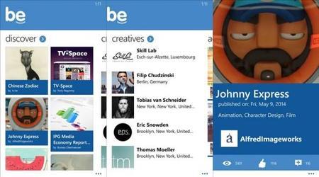 Be, una aplicación que te dejará entrar a Behance desde tu Windows Phone