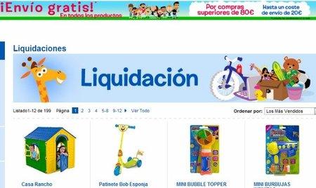 Liquidación de juguetes en Toy'R'Us