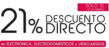 21% de descuento en electrónica, electrodomésticos y video juegos en Hipercor, ¡sólo hoy!