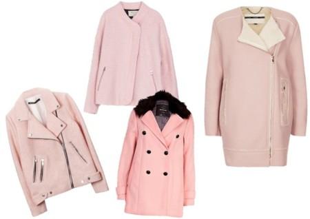 abrigos color rosa aw 2013
