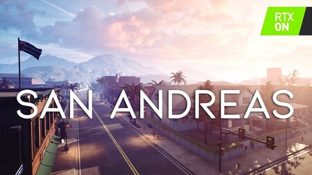 La intro de GTA San Andreas recreada desde cero en Unreal Engine 4 y con mejoras actuales como el ray tracing