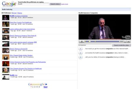 Gaudi (Google Audio Indexing) en Google Labs