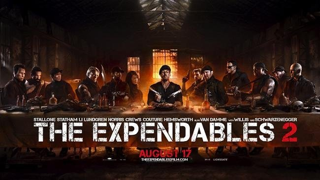 Imagen con el cartel al estilo La Última Cena de 'Los Mercenarios 2'