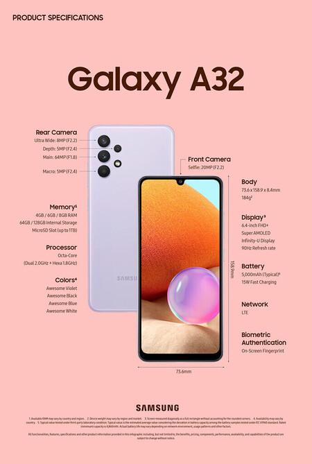 Samsung Galaxy A32 Oficial Caracteristicas