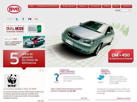 BYD estrena (por fin) su página Web en España