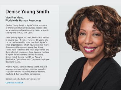 Denise Young Smith ahora es vicepresidente de Diversidad e Inclusión en Apple