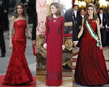 Letizia vestida de rojo