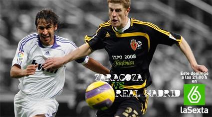 La Sexta emite el Zaragoza-Real Madrid