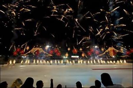 Inauguran pista de hielo en El Zócalo de México DF