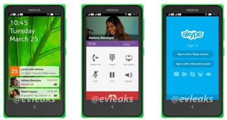 Nokia con Android interfaz