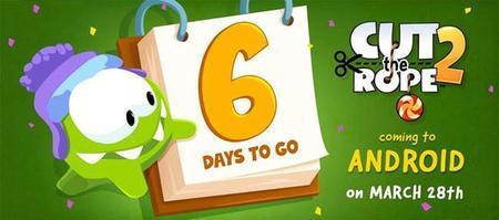 Cut The Rope 2 disponible en Android a partir del 28 de marzo
