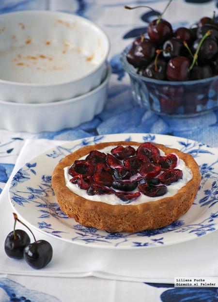 Tartaletas ligeras de cerezas y queso crema: receta para el postre de verano