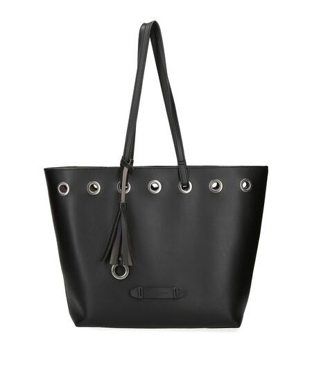 Bolso De Hombro De Mujer Pepe Jeans Angelica Tipo Shopping Color En Negro