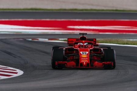 Giovinazzi Ferrari Barcelona F1