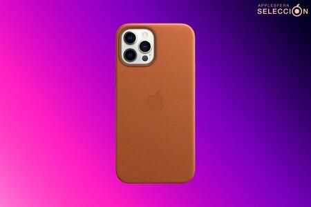 Ahorra casi 20 euros y llévate a precio mínimo la funda de piel MagSafe oficial de Apple para el iPhone 12 Pro Max en Amazon