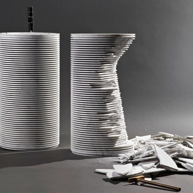 Un lavabo roto también tiene sentido decorativo: así es el reto de Antonio Lupi ante el diseño