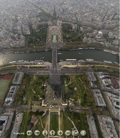 Tour virtual de París desde el cielo