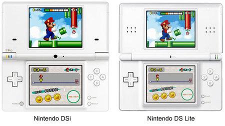 Nintendo DSi junto a DS Lite