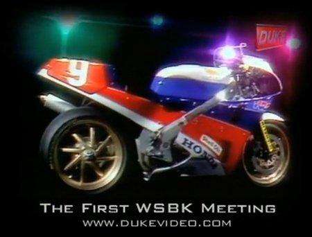La primera carrera del WSBK: Donington Park 1988