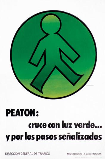 1976 Peaton Cruce Con Luz Verde