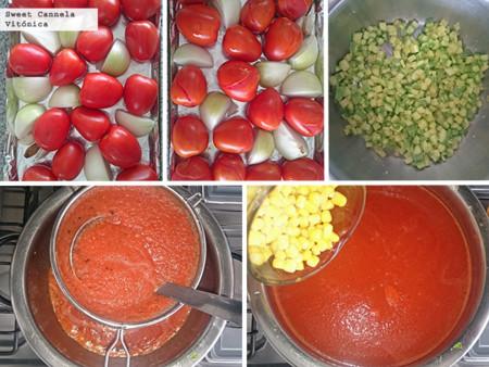 Preparacion Sopa Jitomate