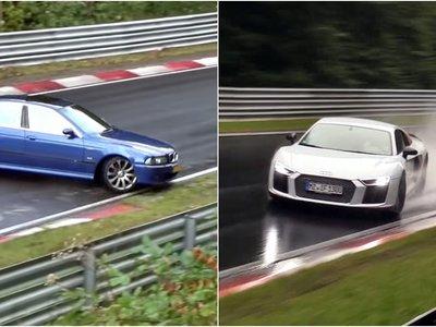 Dos formas opuestas de rodar en Nürburgring con lluvia: una salvada épica y un fail en toda regla