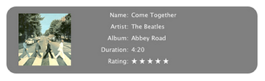 GimmeSomeTune, información sobre las canciones de iTunes