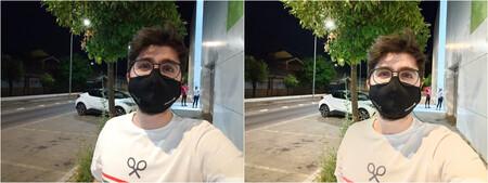 Selfie Sin Y Con Hdr Noche