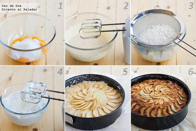 Receta de bizcocho de manzana casero paso a paso