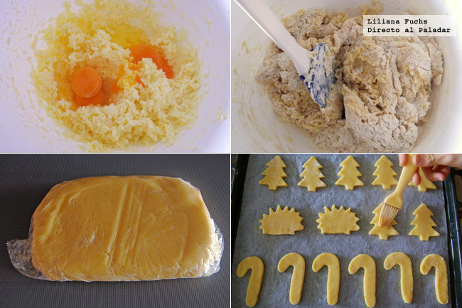 Mailänderli, galletas de mantequilla y limón de Navidad. Pasos